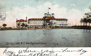New Monmouth House, Spring Lake, New Jersey, Early Postcard, Used in 1907