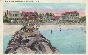 KEANSBURG , N.J. , 1910-30s ; Beach from Breakwater