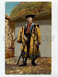 3085370 HUNGARY man in native dress Vintage colorful PC