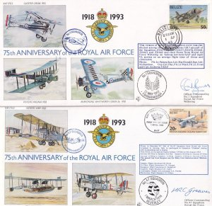 1st 47 Squadron Royal Air Force 75th Anniversary Of The 2x Pilot Signed FDC