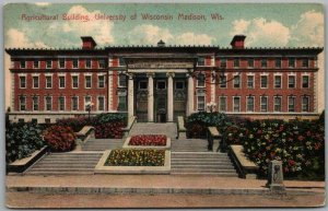 1909 Madison, Wisconsin Postcard Agricultural Building University of Wisconsin
