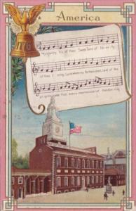 Song Card America  1916