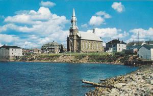 Church of St. Pierre, Cheticamp, Cape Breton, Nova Scotia, Canada, 40-60´s