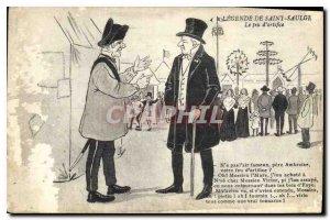 Postcard Old Legend of Saint Saulge The fireworks