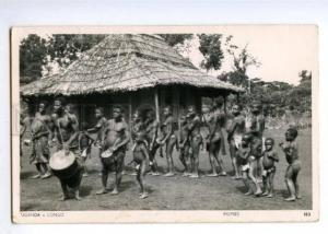 147509 UGANDA CONGO Nude Pigmies Vintage photo postcard