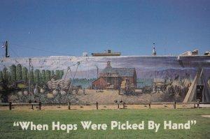 TOPPENISH Washington , 1960-80s ; Hop Picking Mural