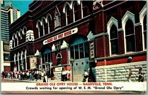 Nashville, Tenn. Postcard GRAND OLE OPRY HOUSE Ryman Auditorium Street View 1970