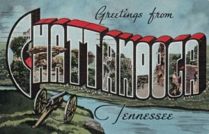 Large Letter Greetings, CHATTANOOGA , Tennessee, PU-1942