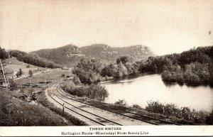 Minnesota Three Sisters Burlington Route Mississippi River Scenic lLine