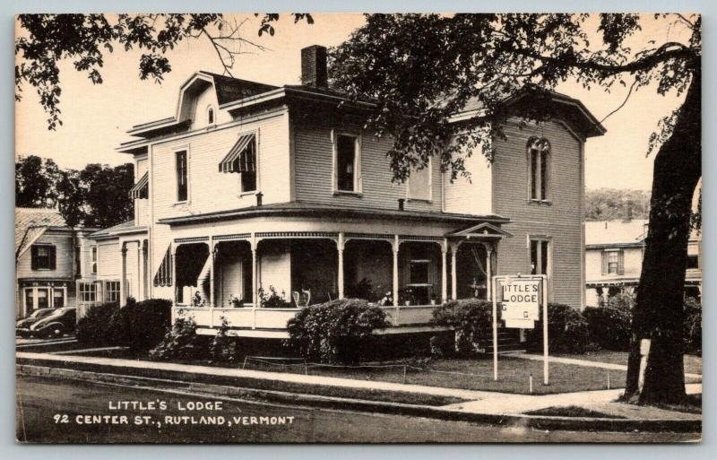 Rutland Vermont~Little's Lodge~Bed & Breakfast~92 Center Street~1930s B&W PC