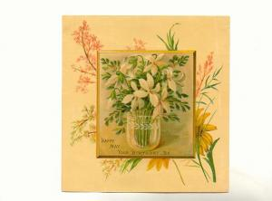 Vintage, Single Layer Birthday Card, Flowers