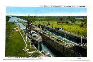 Panama - Canal Zone. Gatun Locks
