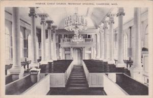 Interior, Christ Church, Protestant Episcopal, CAMBRIDGE, Massachusetts, 1910...