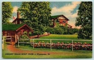 Chicago~Flossmoor Illinois~Cherry Hills Golf Club~House on Kedzie~1946 Linen