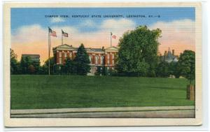 Kentucky State University Campus View Lexington KY linen postcard