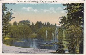 New York Syracuse Fountain At Onondago Park