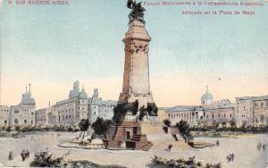 Argentina Buenos Aires, Futuro Monumento a la Indipendencia, colocado Plaza Mayo