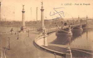 Belgium Liege Pont de Fragnee, Bridge Bruecke 1930