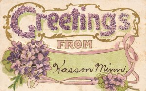 H11/ Kasson Minnesota Postcard c1910 Greetings from Kasson Minnesota