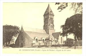 NOIRMOUTIER (Vendee), France, 1900-1910s   Eglise St-Philibert