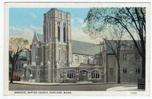 Portland, Maine, Immanuel Baptist Church