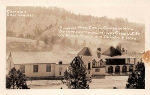 LPS79 Cambria North Dakota Salt Springs Cambria Park Casino Real Photo Postcard