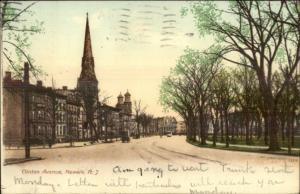 Newark NJ Clinton Ave c1905 Postcard