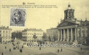 Place Royale Monument Godefrold Bruxelles, Belgium Stamp on back