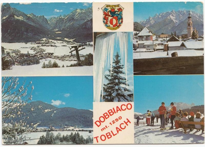 DOBBIACO TOBLACH, mt. 1250, 1979 used Postcard