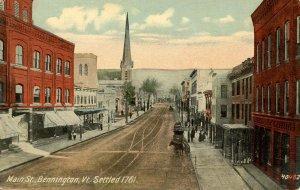 VT - Bennington. Main Street, circa 1900