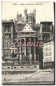 Old Postcard Lyon apse of St. John and Fourviere