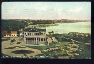 Portland, Maine/ME Postcard, Cape Cottage Casino, 1908!
