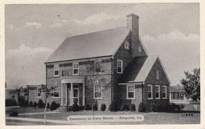 Residence of Dave Bloom, EMPORIA, Virginia, 30-40's