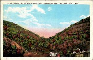 Gap in Cumberland Mt, Namesake Cumberland Gap TN c1948 Vintage Postcard P24