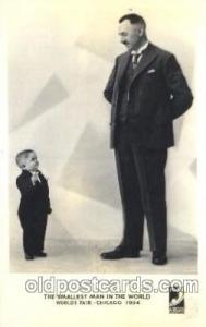 The smallest man in the world, Worlds Fair Chicago, 1934 Smallest Person, Mid...