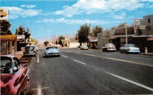 D82/ Hawthorne Nevada NV Postcard 1976 Chrome Main Street Autos Stores