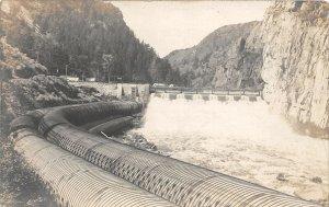 F76/ Norris Montana RPPC Postcard c1915 Madison River Dam Power Company