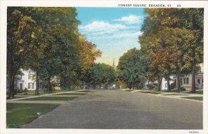 Vermont Brandon Conant Square Street Scene Curteich
