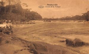 Belgian Congo Belge Stanleyville Chutes de la Tchopo Postcard