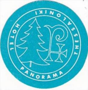 GREECE THESSALONIKI HOTEL PANORAMA VINTAGE LUGGAGE LABEL