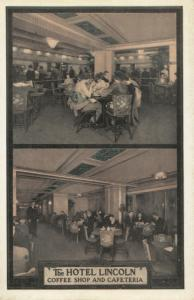 Hotel Lincoln , NEW YORK CITY, 1930s ; Coffee Shop & Cafe