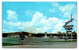 1950s/60s Hi-De-Ho Motel and Restaurant, Carlyle, IL Postcard