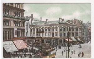Castle Junction Street Scene Belfast Northern Ireland UK 1910c postcard