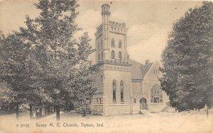 F60/ Tipton Indiana Postcard 1906 Kemp M.E. Church