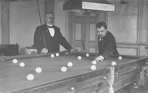 Real Photo Pool Pool Billiards  Carte Postale Unused