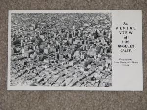 RPPC, Aerial View of Los Angeles, Calif.