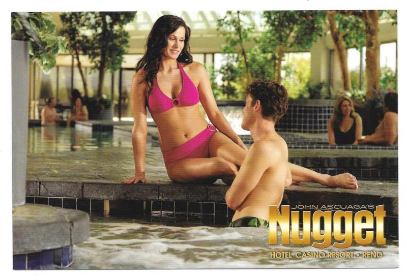 Nugget Casino Hotel Spa John Ascuagas Reno NV Ad Postcard