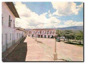 Postcard Modern Parque Principal Barichara Santander