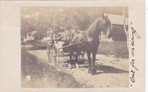 RP: BELFAST , Maine , 1908 ; Horse & Buggy