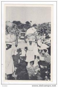 Peasants Carrying Vegetables to market, Port-au-Prince, Haiti, 40-50s
